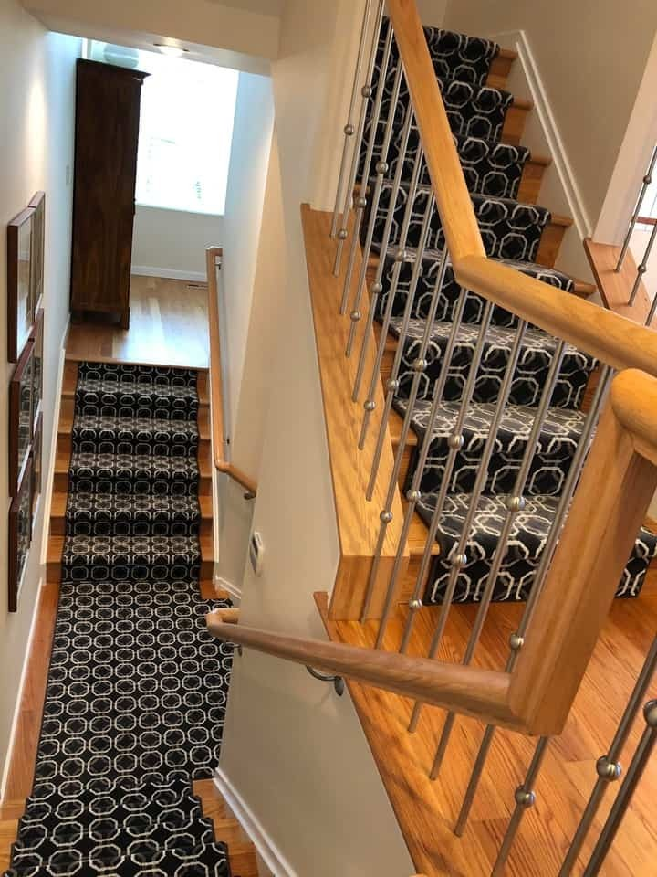 Stair Runner Rug for Landings and Hallways Near Hillsborough and Princeton, New Jersey (NJ)
